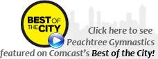 Peachtree Gymnastics featured on Comcast's BEST of the CITY!