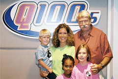 Natasha Jones, Bela Karolyi and Kids from Peachtree Gymnastics at Q100 radio interview!